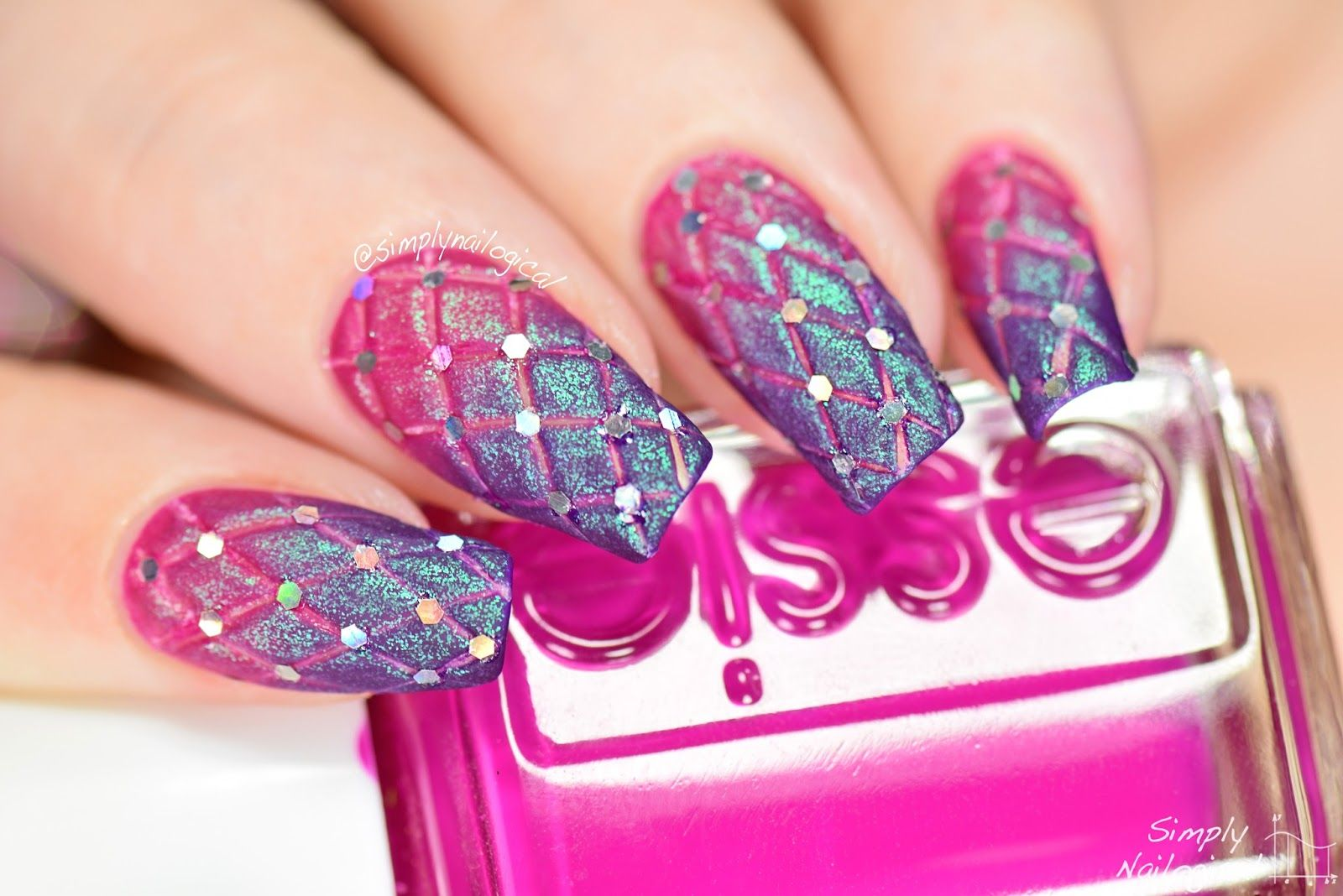 Simply Nailogical: DIY fancy quilted nails   Bestie   Pinterest ...