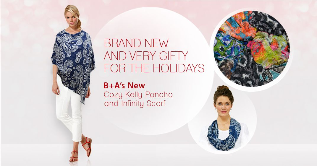 B A S New Light And Airy Cozy Poncho And Infinity Scarf Offer Versatility With One Size Fits All In Prints For Any Occasion Cozy Poncho Infinity Scarf Poncho