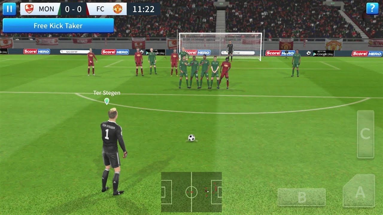 Dream League Soccer 2019 Android Gameplay In 2020 Soccer Video Game Images League
