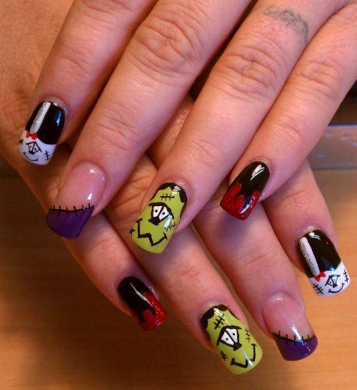 October Nail Art: Nails, Halloween