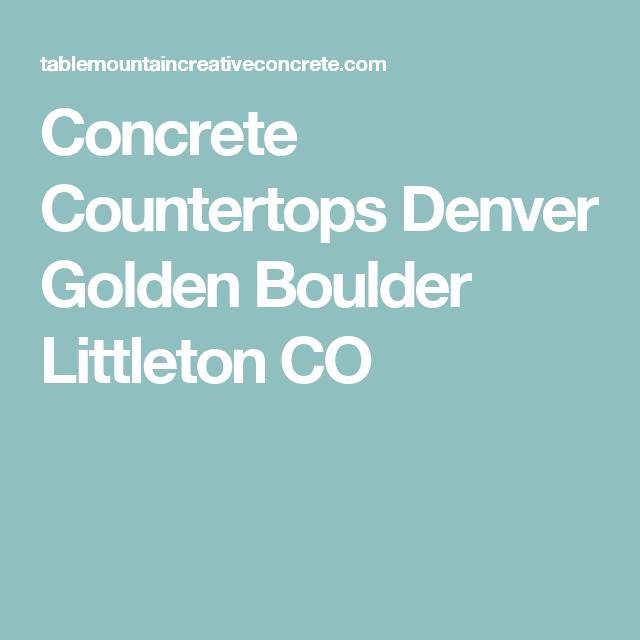 Concrete Countertops Denver Golden Boulder Littleton CO