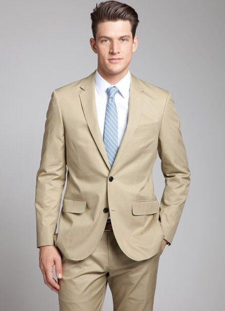 The Five Suits You Need in Your Closet 5. The Khaki Cotton Suit A ...