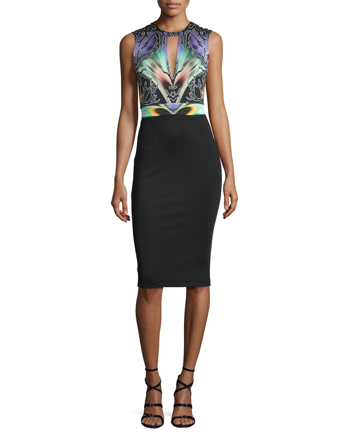 Just Cavalli Woman Sequined Printed Mini Dress Charcoal Size 42 Just Cavalli Perfect Sale Online Ict29OcT