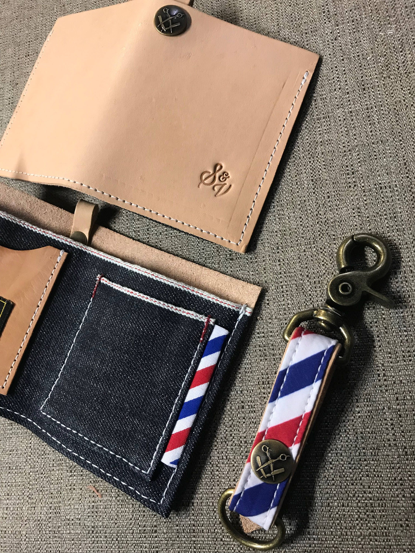 Bifold wallet and key chain combo etsy bi fold wallet