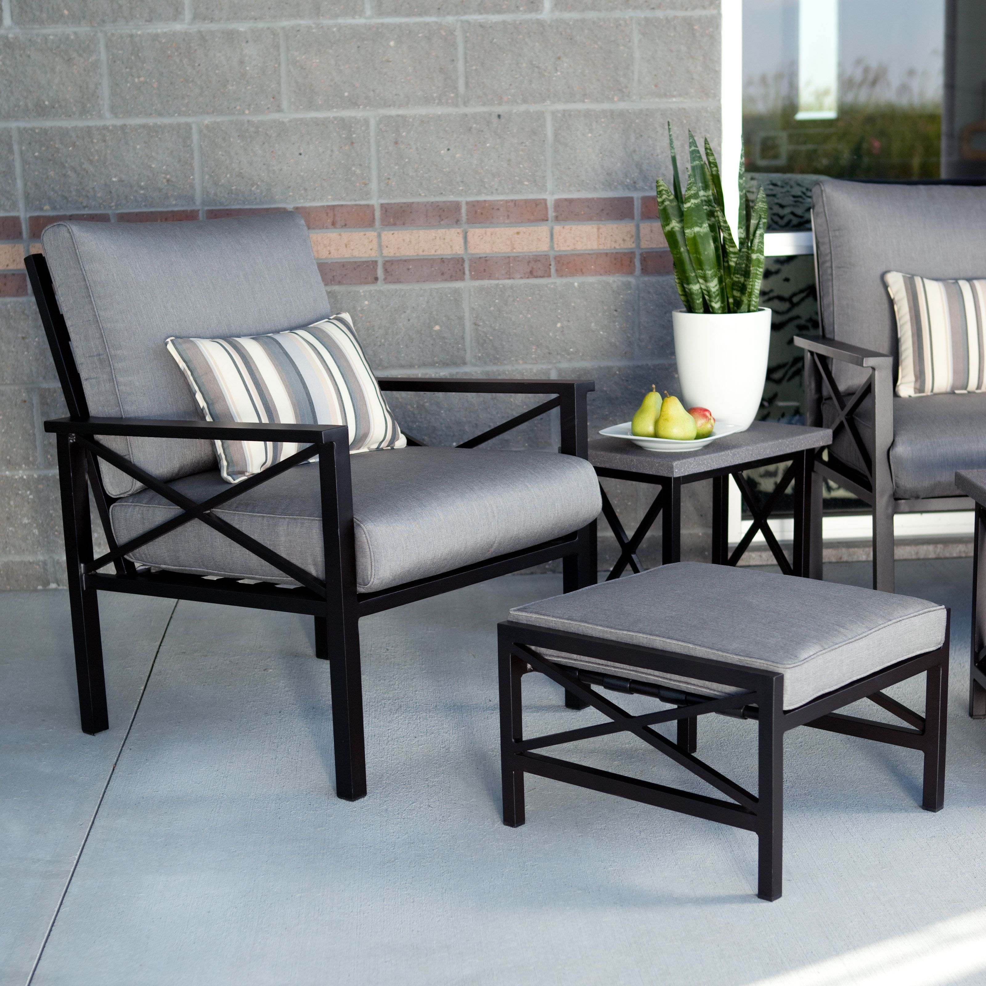 Have to have it. Madison Outdoor Lounge Chair with Ottoman