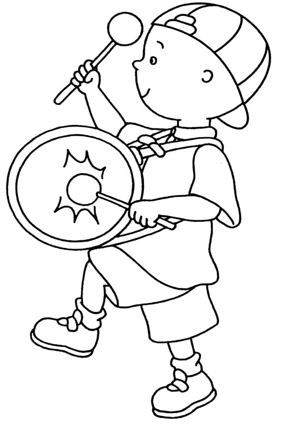 Caillou Marching Band Coloring Page Coloring Sun Caillou Coloring Pages Marching Band