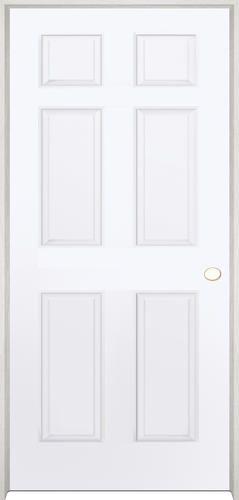 Mastercraft 36 X 80 Primed Woodgrain 6 Panel Int Door Lh At Menards Menards Interior Doors Prehung Interior Doors Interior Pocket Doors