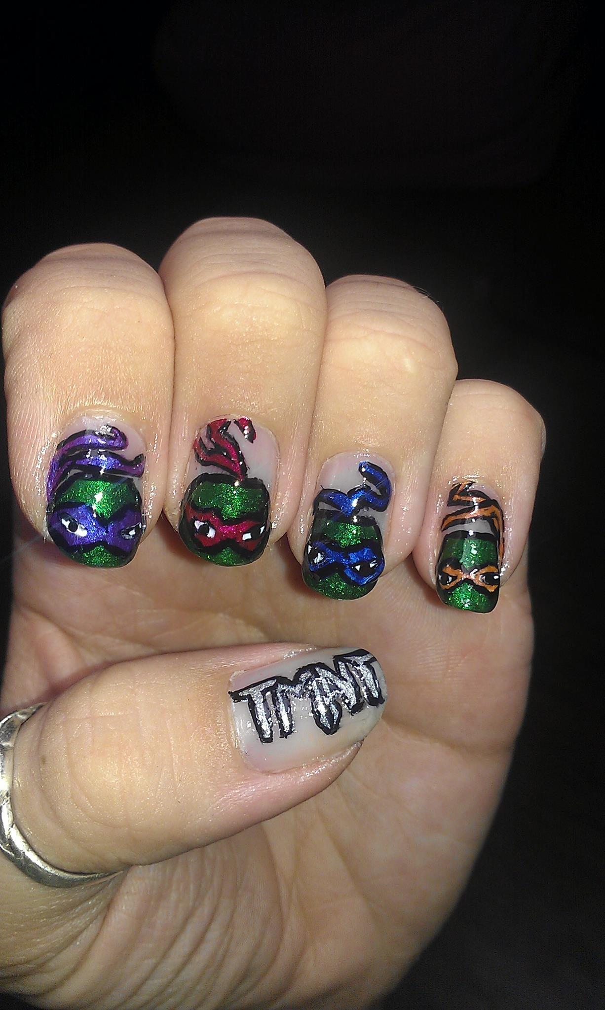 tmnt teenage mutant ninja turtles nail art | My Nails | Pinterest ...