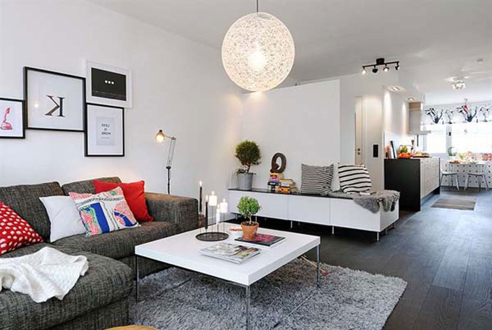 living-room-ideas-for-small-apartment-red-faux-leather-sectional ...