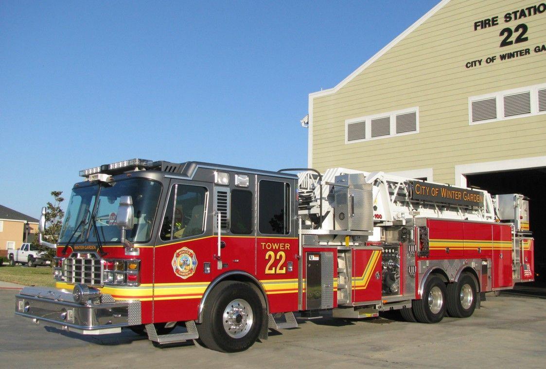 Winter Garden Fire Dept Firetruck With Images Fire Trucks