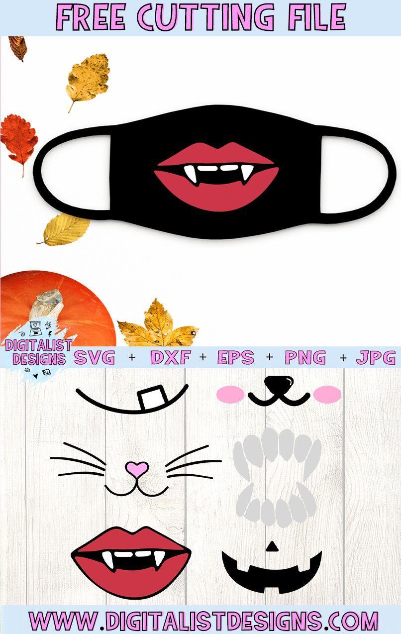 Free Halloween Face Mask Svg Bundle Digitalistdesigns In 2020 Free Halloween Halloween Face Mask Svg