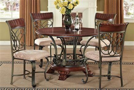 Omari Cherry Wood Metal Dinning Room Sets  Dining Sets Classy Cherry Wood Dining Room Set Inspiration