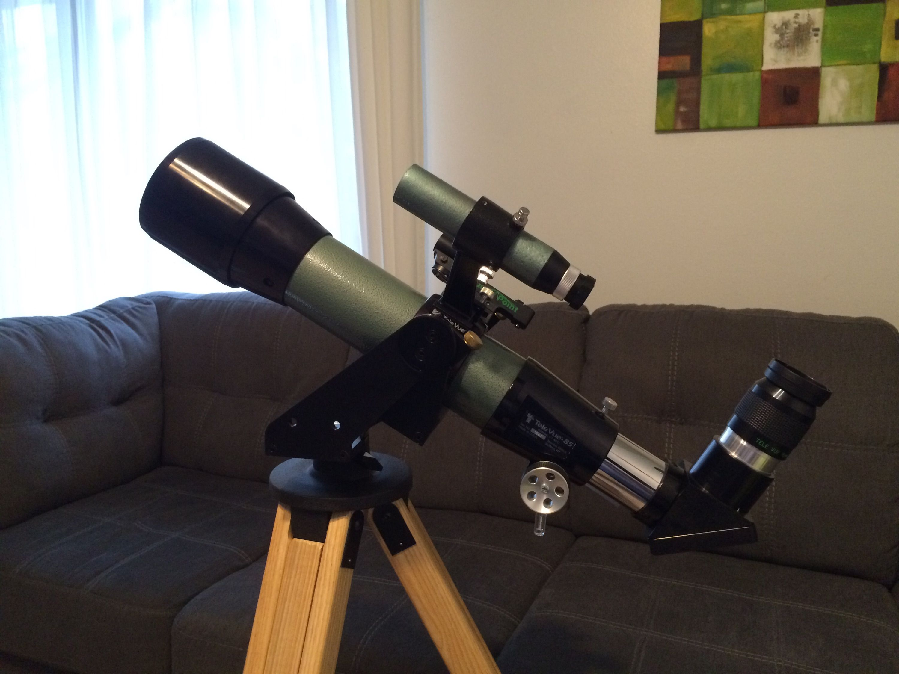 Televue TV-85 apochromatic scope    with a Takahashi 6x30
