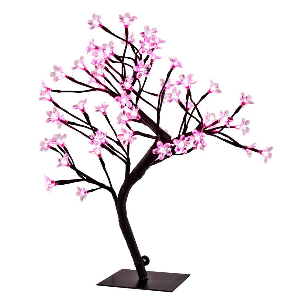 20 In Pink Cherry Blossom Tree Accent Lamp 12486 The Home Depot Blossom Trees Cherry Blossom Tree Pink Cherry Blossom Tree