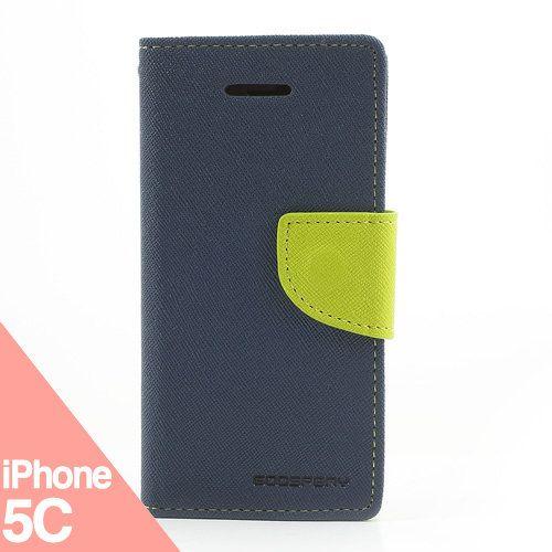 Funda iPhone 5C - Booky azul/verde - La Tienda de Doctor Manzana