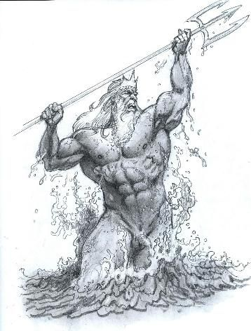 Apollo Pictures Drawings Google Search Poseidon Tattoo