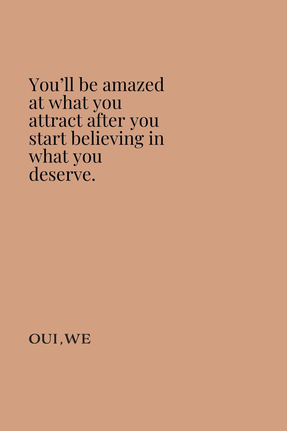 Motivational Quote iPhone Wallpaper — Oui We