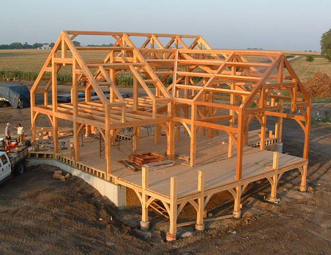 texas timber frame | timber frame home near Filley, Nebraska by Clydesale Frames Co.
