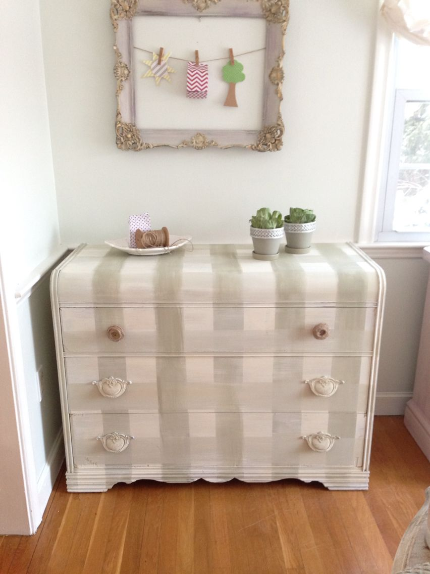 Buffalo Check Dresser Painted Furniture Furniture Finishes Shabby Chic Furniture