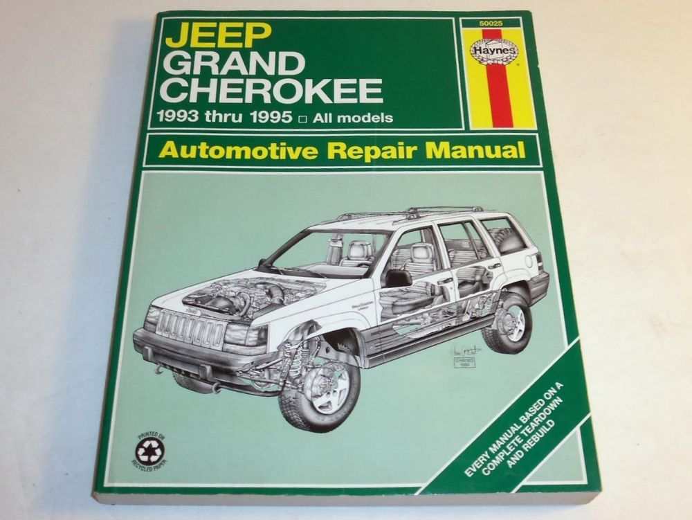 haynes repair manual jeep grand cherokee 1993 1995 all models p b rh pinterest com 1995 jeep cherokee parts manual 1995 jeep grand cherokee repair manual free