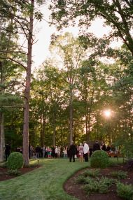 Elegant wedding in the woods