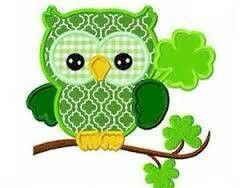 ST. PATRICK'S DAY OWL CLIP ART