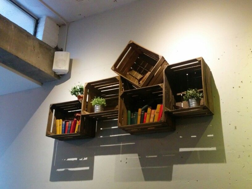 Nice box/ crate wooden shelves or installation