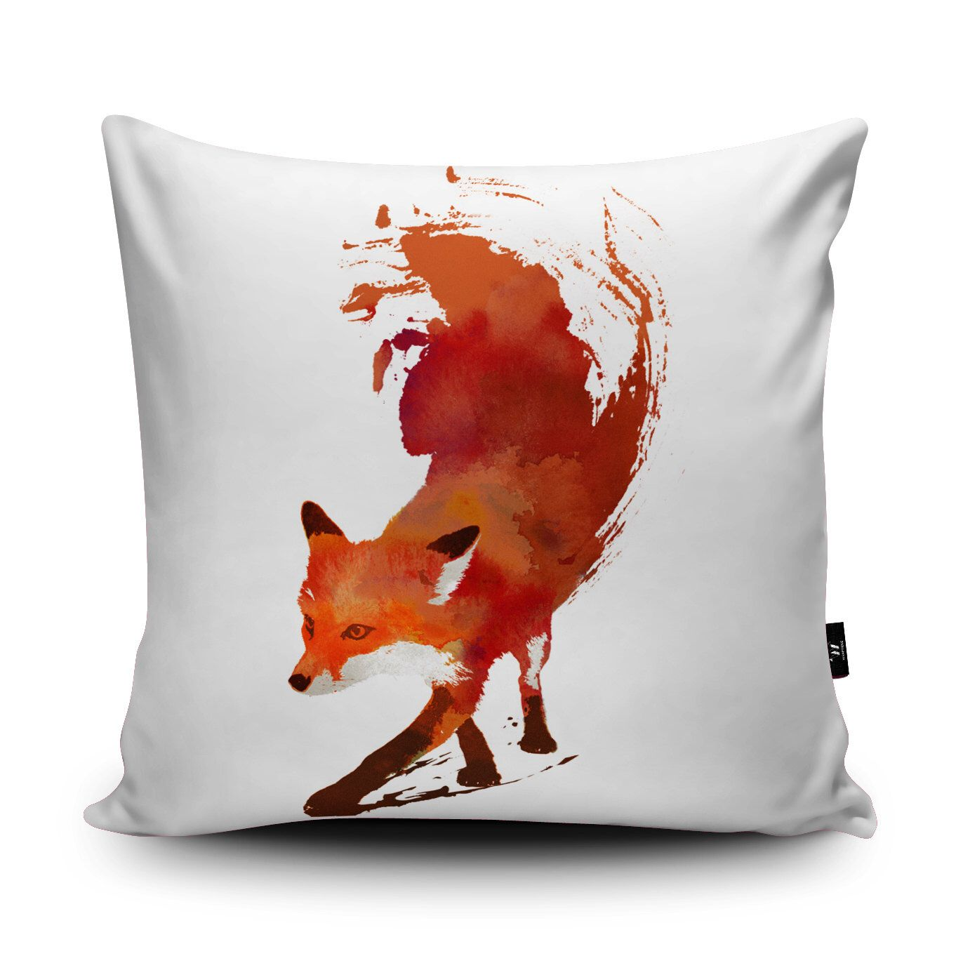 Fox VeganSuede Cushion by Robert Farkas Running Red Fox