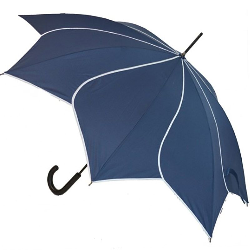 Navy Petal Swirl Umbrella - Umbrellas & more at Umbrella Heaven