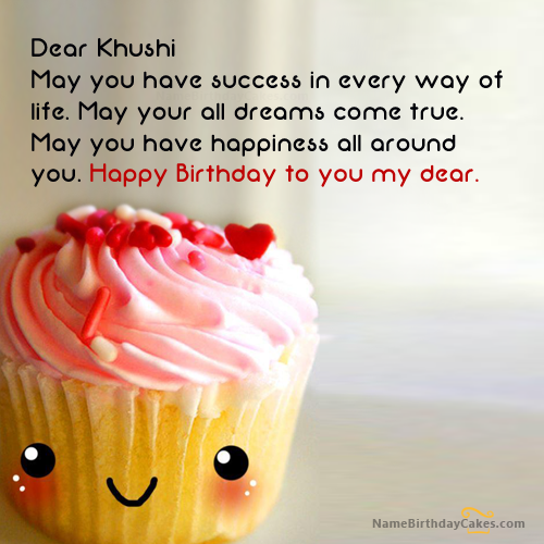 The Name Khushi Is Generated On Happy Birthday Images Download Or