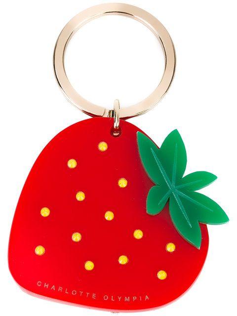 fa20d6d6d17 Porte Clés · Fraises · Charlotte Olympia strawberry keyring