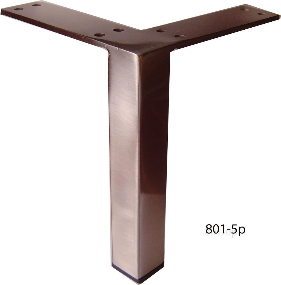 Metal Furniture Legs Metal Legs For Furniture Sofa Cabinet 5 Brushed Satin 4pc Alphafurnishing Metal Furniture Legs Furniture Legs Metal Furniture
