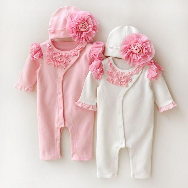 Vestido formal de la princesa del bebé recién nacido ropa infantil ropa bebe  mono de los mamelucos de la manera de encaje floral 9926cadfd059