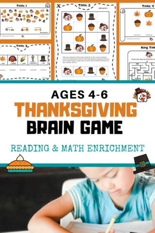 Kindergarten Math Enrichment Worksheets