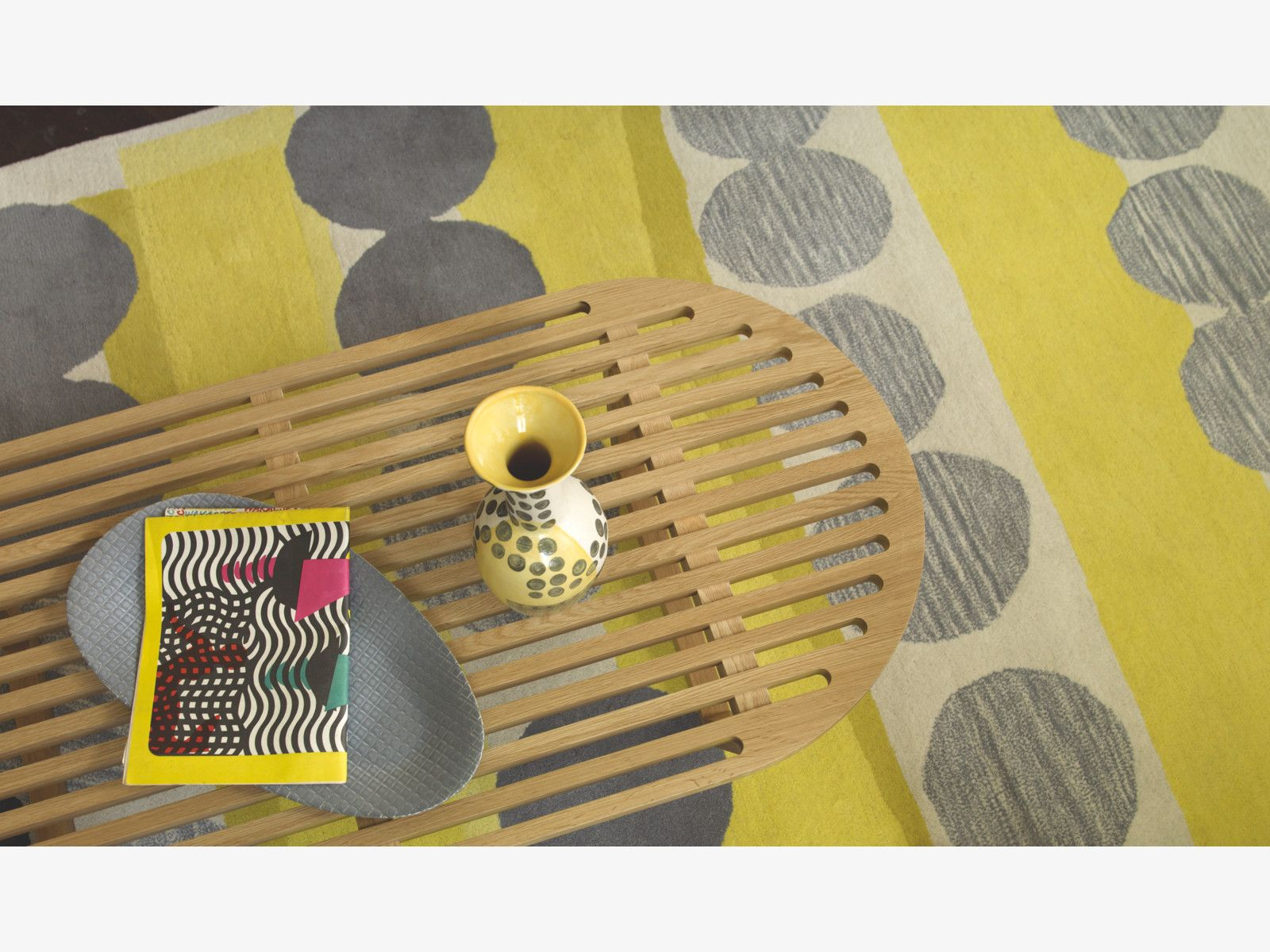 Happer Grey Wool Large Grey And Yellow Hand Tufted Wool Rug 170 X 240cm Rugs In Living Room Rugs Soft Furnishings