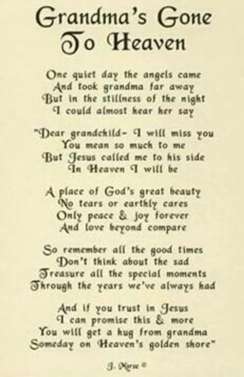 Love You Grandma Family Angels In Heaven Grandma Quotes