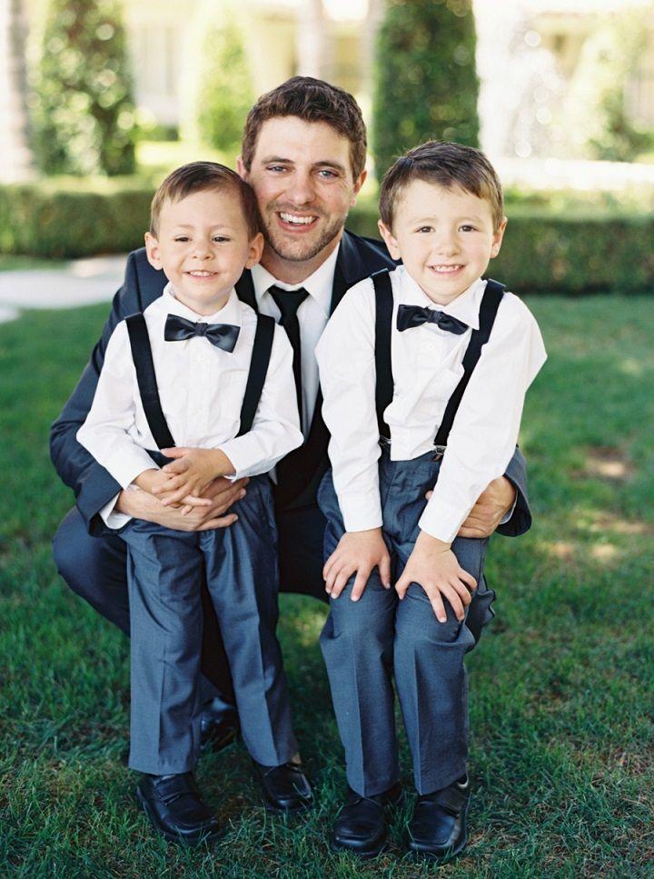 Adorable ring-bearers #ringbearer #bluewedding