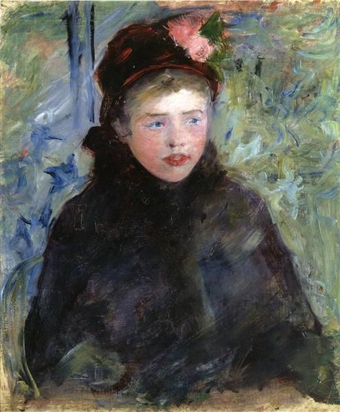 Susan+in+a+Toque+Trimmed+with+Two+Roses,+1881+-+Mary+Cassatt