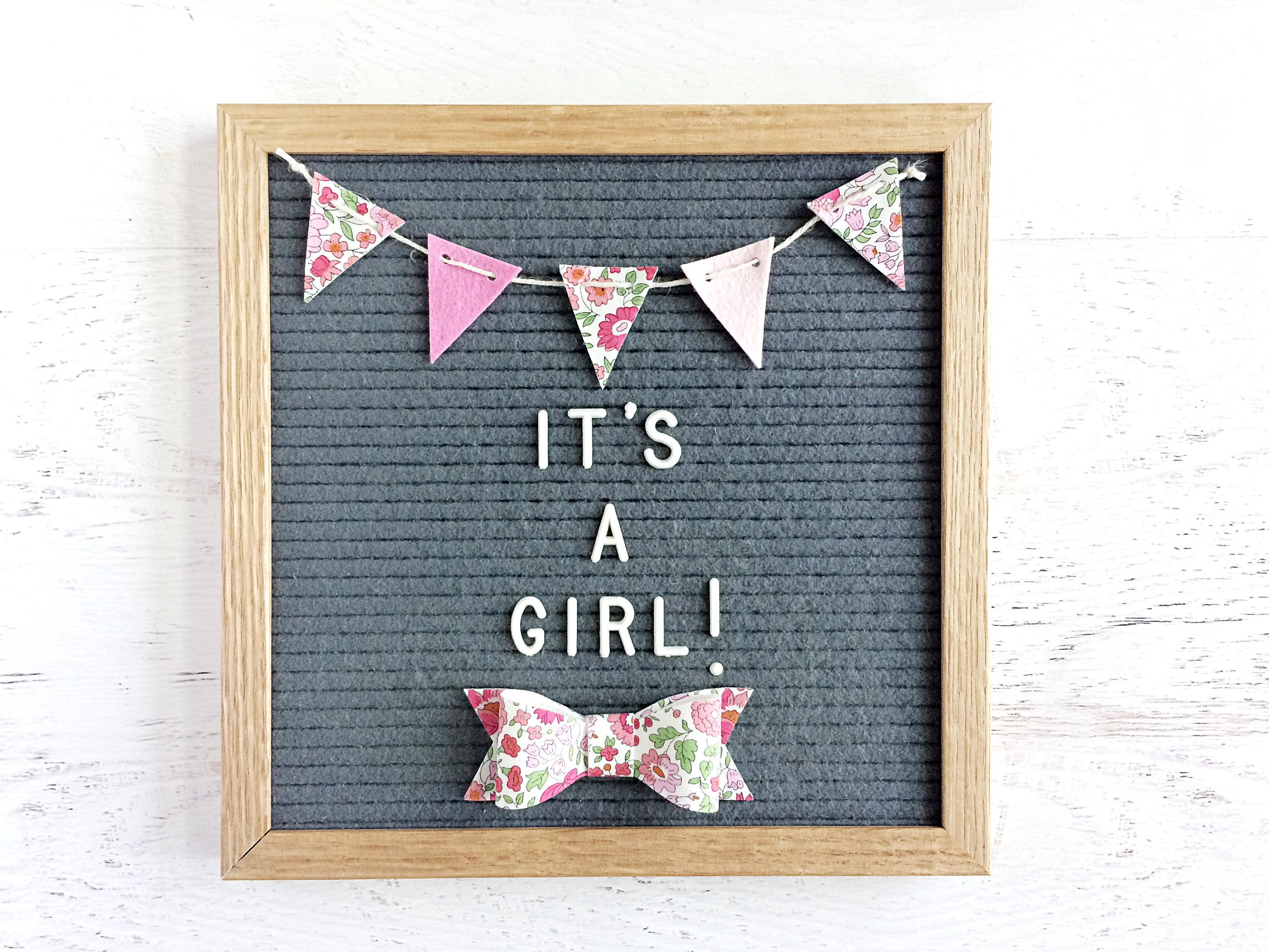 Mini Felt Banner and Bow / Bow Tie for Your Letter Board