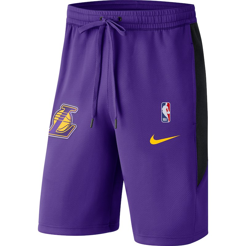 7ccb2eead958 Los Angeles Lakers Nike Therma Flex Performance Shorts - Purple ...
