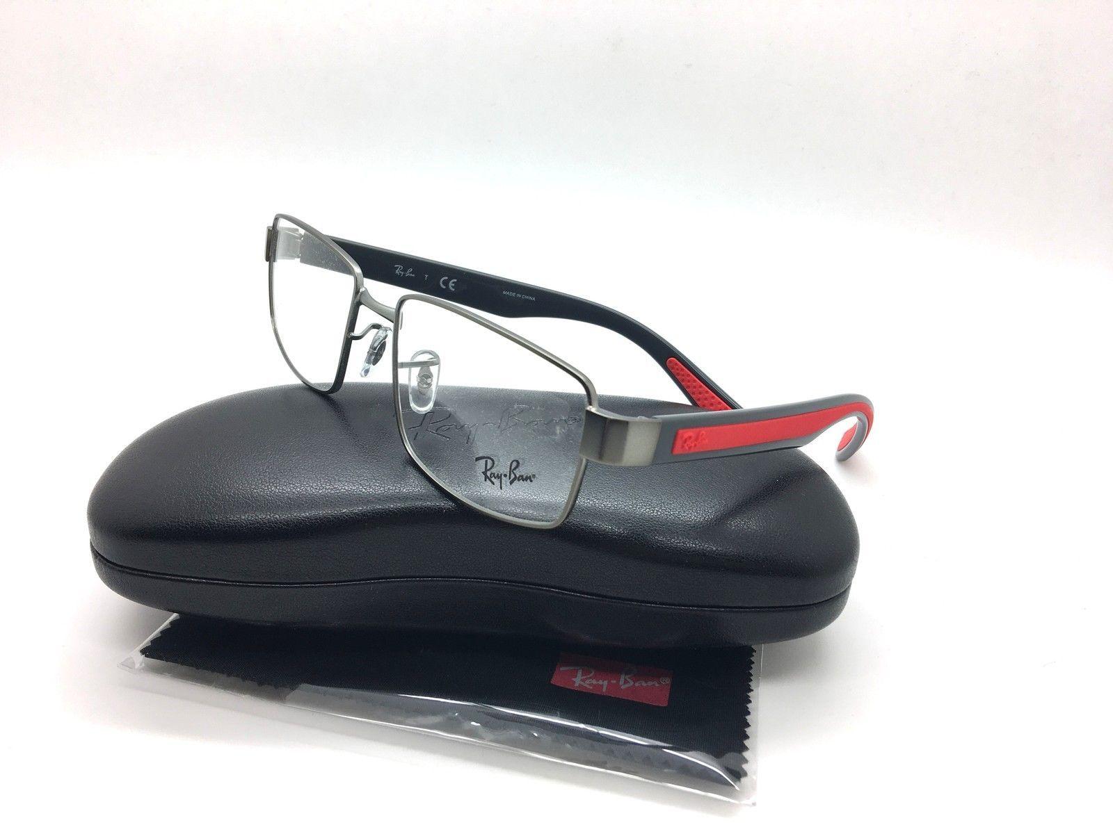 0506c1c7c1 Eyeglass Frames  Ray-Ban Rb 6319 2837 Gunmetal Grey Red New Authentic  Eyeglasses 55Mm W Case -  BUY IT NOW ONLY   69.97 on eBay!