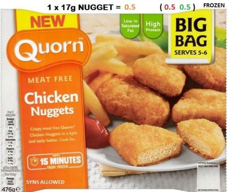 Quorn Chicken Nuggets 0.5 Syns Per Nugget