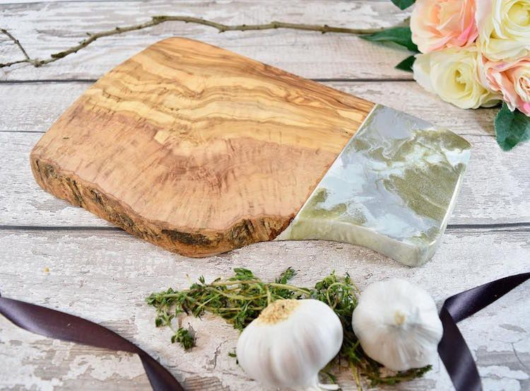 Wood and Resin Cutting Boards Bring the Beauty of the Beach to the Kitchen