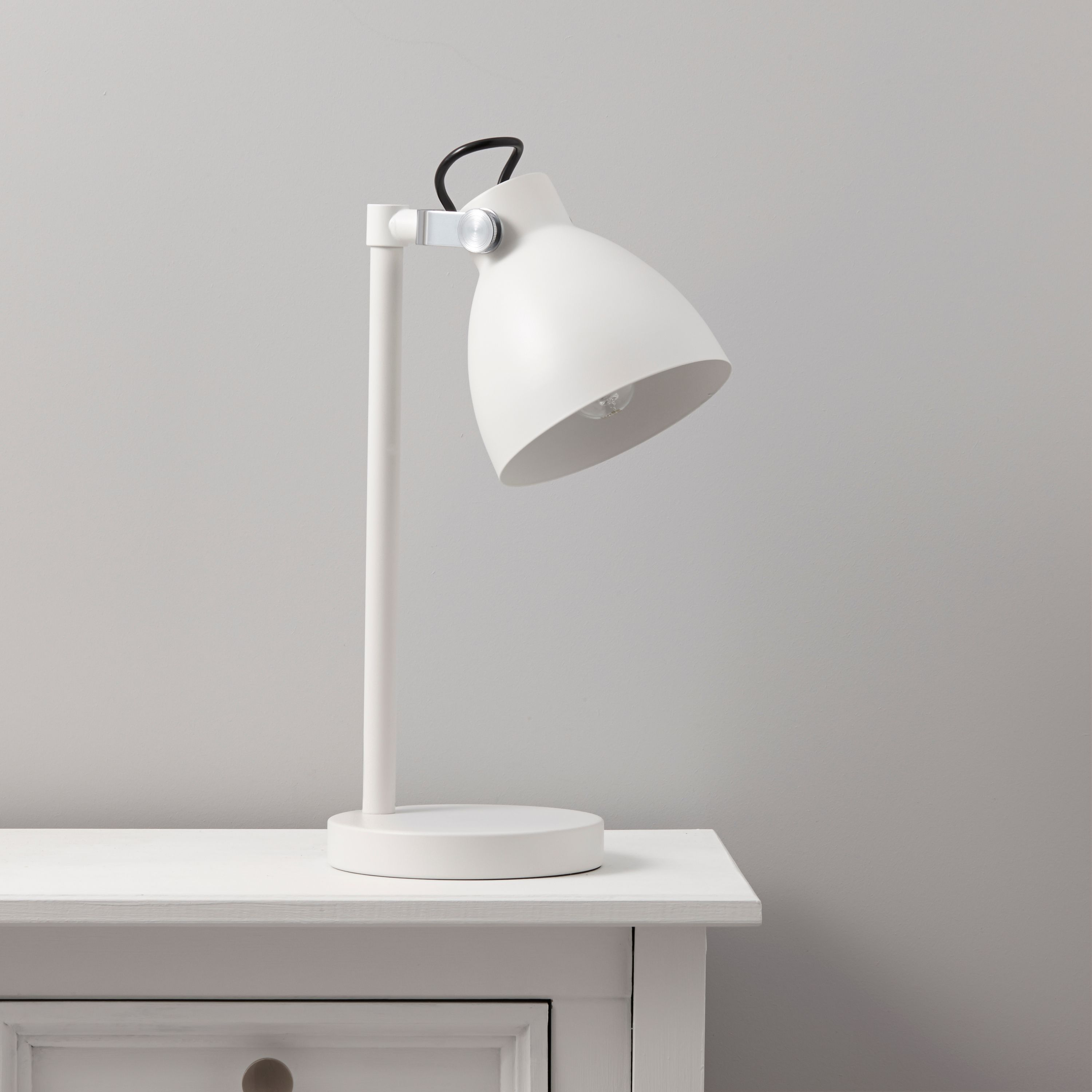Tibbon White Table Lamp notavailable DIY at B&Q