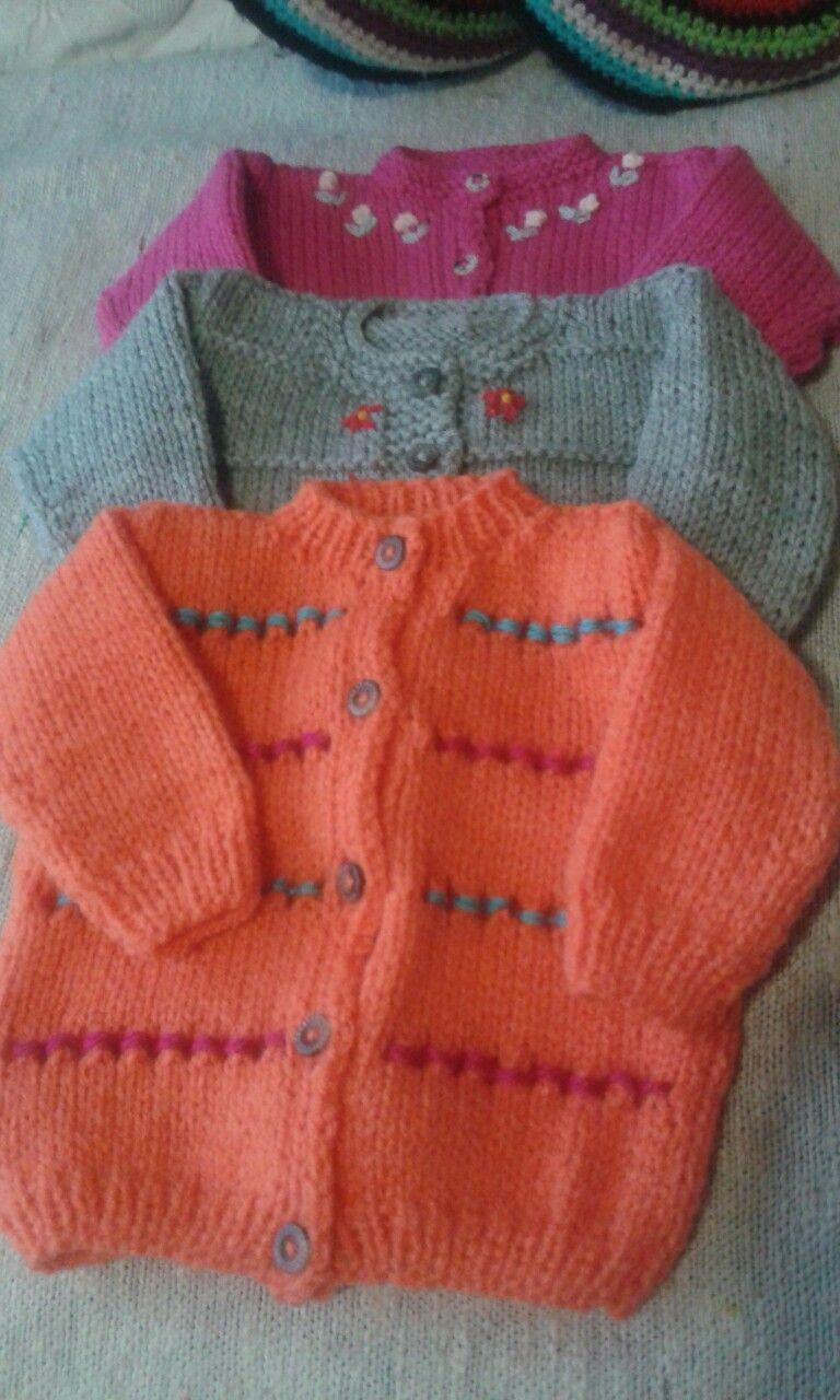 Saquitos tejidos para beba.