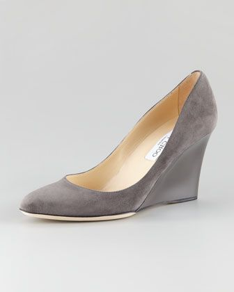 Allen Suede Wedge Pump by Jimmy Choo at Neiman Marcus.