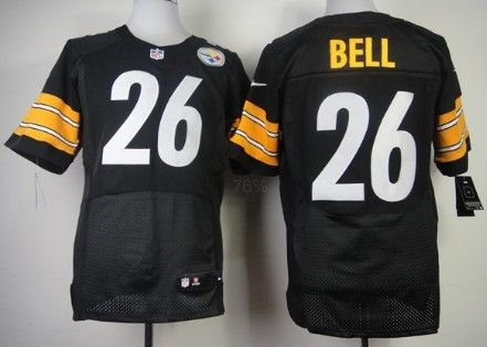26a0247ad Nike Pittsburgh Steelers  26 LeVeon Bell Black Elite Jersey ...