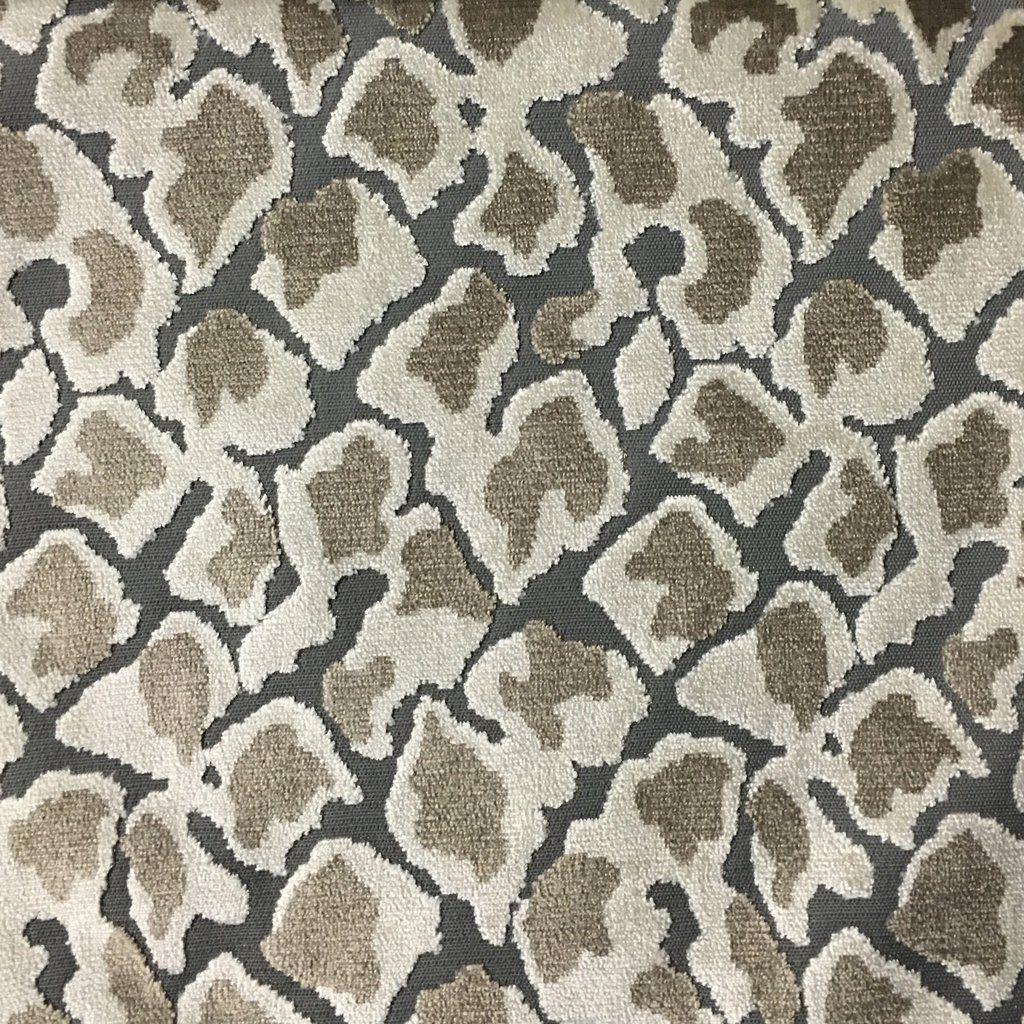 Hendrix leopard print cut velvet fabric upholstery fabric by the yar top fabric
