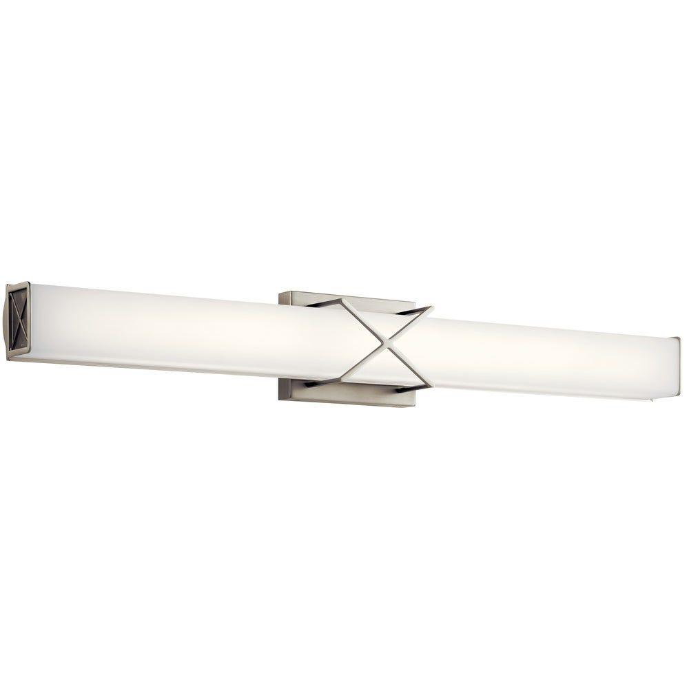 Photo of Kichler Lighting Trinsic 32-inch LED Linear Bath Light Brushed Nickel, Gray