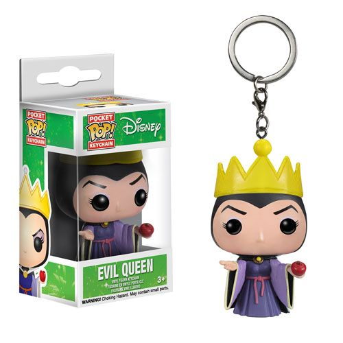 Pop Vinyl Disney EVIL QUEEN Funko Pocket Keychain Figure Keyring Snow White